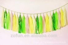 2015 hot DIY Handmade Paper Tassel Garland Wedding Favors