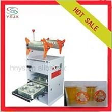 Semi automatic 4 output tea cup sealer