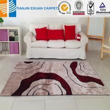 handmade long pile 100% polyester shaggy rug