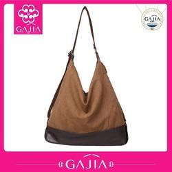 casual plain canvas handbag extra large canvas tote bag casual bag made in China