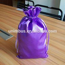 2015 custom fashion drawstring satin hair bag wholesale