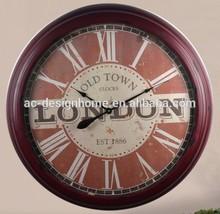 LONDON ROUND METAL WALL CLOCK