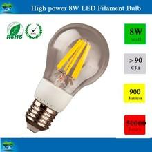 Glass House A60 2W,4W 6W 8W 900lm CE RoHS E27 B22 Led Filament Bulb E12 2800K /6500K 120V/220V Led Filament Light.
