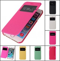 HOT Flip Leather View Window Case Cover For iPhone 6 6 Plus