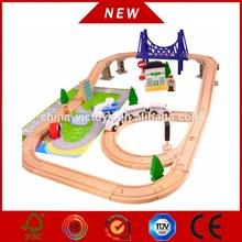 kids wooden train set, educational railway train, baby train set