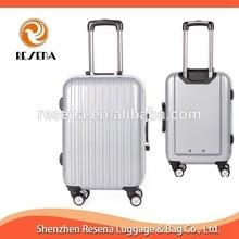 Silver Hard Shell Aluminum Frame Wheel Suitcase