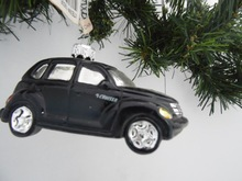 Luxury and delicate glass car ornament for christmas decoration