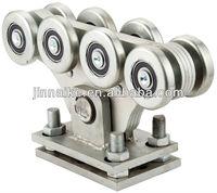 Channel slide gate steel roller