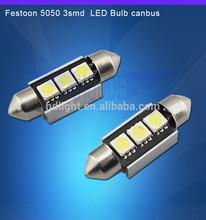 5050 C5W 36mm 3SMD Canbus Error Free Festoon Dome LED Light Bulbs Lamp Green