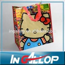 laminated pp woven bag non woven shoulder bag fashion shopping bag