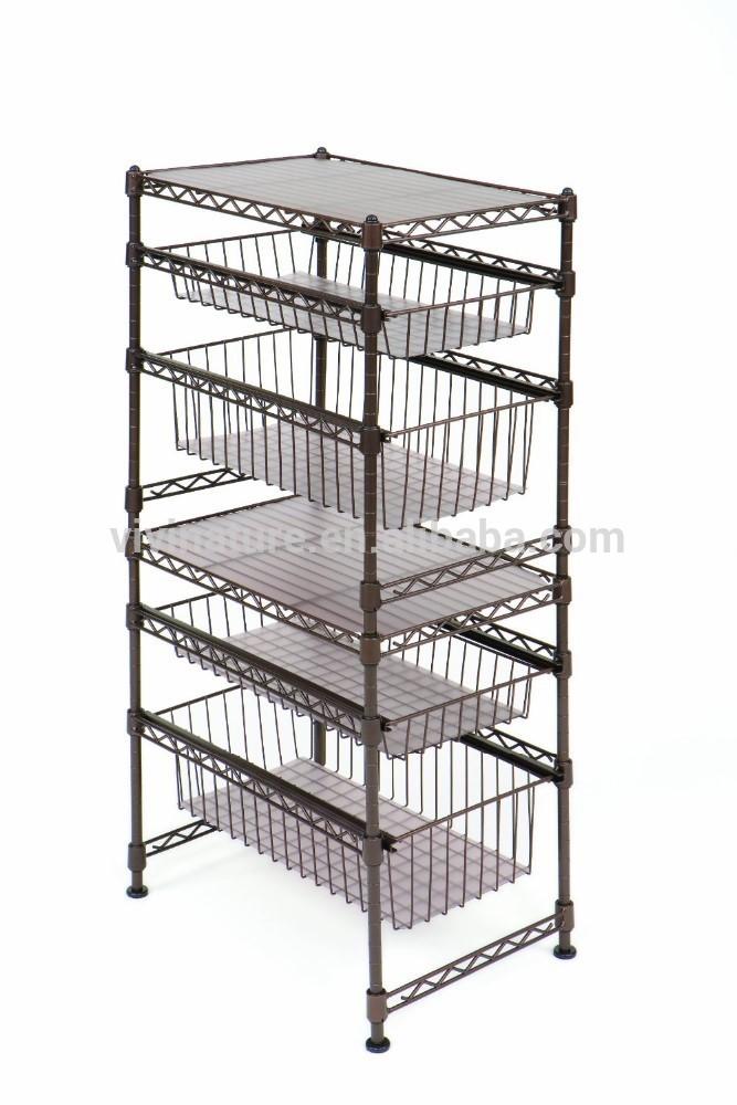 vivinature lagerwagen 3 tier draht küchenregal metall ...
