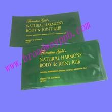 label custom printed heat sealed foil packaging for free cosmetic sample