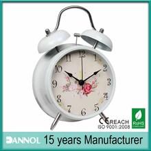 4 inch desktop promotion fashion metal alarm clock art