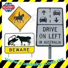 Flashing Rectangle White Aluminum Traffic Signs Australia