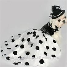 Pet Spring & Summer Black Velvet Fashion Evening Dress/Dog Dresses/Pet Couture