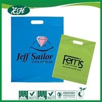 wholesale promotional custom logo printed hdpe hand shopping bag