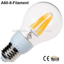 Unique design and good price led filament 8w 110v led
