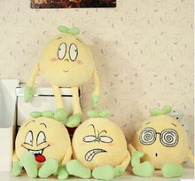 cute small bean sprout with funny expressions plush toy/stuffed bean sprout plush toy/custom plush toy
