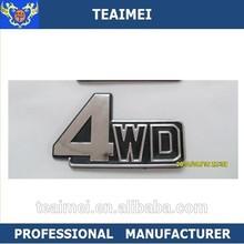 Hot sales ABS chrome badge car emblem logo 4WD plastic letters