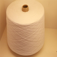 China supplier blended bleach white recycled cotton yarn