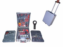 LB-342-186PCS household tool kits in aluminium case(household tool moulds;hand tools kit manufacturer)