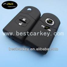 High Quality 2 button flip car key case for mazda key mazda key cover silicone