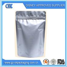 Aluminum foil zip lock plastic bag