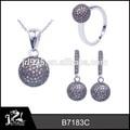Jrl moda mücevher türk, kahve taklidi takı seti, yapay 925 gümüş moda takı