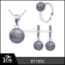 JRL Fashion Jewellery Turkish , Coffee Rhinestone Jewelry set , Artifical 925 silver fashion Jewellery