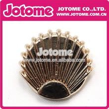 Sector shape button metal button for cloth decoration fashion design button