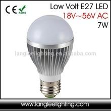 New LED Low Volt 12-56V 24V 36V 48V AC E27 3W 5W 7W LED LIGHT BULB