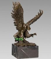 Brass fighting eagle sculpture