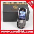 хорошее качество металлический корпус двойной sim porsche формы автомобиля мобильного телефона
