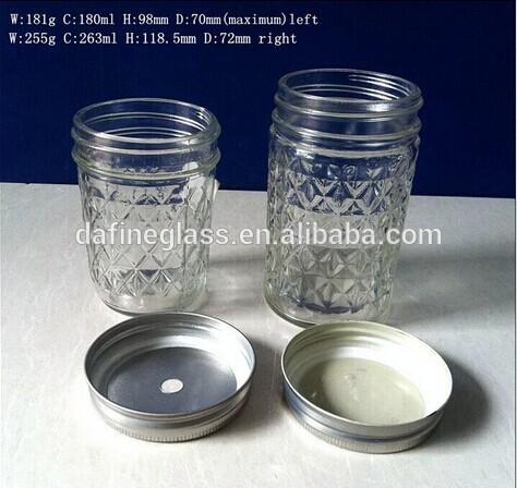 6oz 9oz180ml 260ml mason cam gıda depolama kavanoz kapaklı