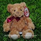 Kids good friend plush fur teddy bear toy/stuffed brown bear
