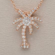 Fashion design summer beach style coconut tree pendant necklace