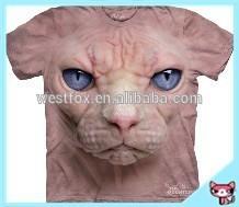 Newest 3D Digital Printing Tiger Short Sleeve 3D T shirt for men