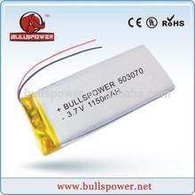 1200 mah 3.7 v li polímero de la batería 602025 de la batería hilti 14.4 v de la batería 1150 mah 503070