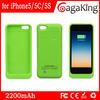 2200mah mobile power supply external battery case mobile phone case for iphone 5 external battery case