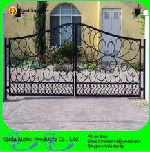 modern handmande ornamental wrought iron gate steel gate for house hotel