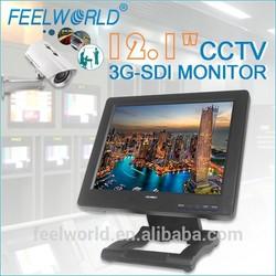3G-SDI HDMI BNC RCA 12.1inch monitor used for wireless 2mp ip camera