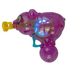 panda şekli flaş ışığı şeffaf toptan plastik sabun köpüğü gun