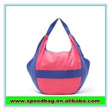 YIWU candy cute lady's handbag with Stitching colours women's nylon shoulder bag FW15853