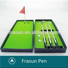 Green Grass Golf Ball Pen,Golf Ballpoint Pen With Flag