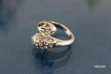HR0190 Beautiful crystal snake head Dual ladies ring for pendants