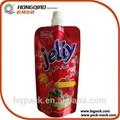 impresos personalizados de grado de alimentos bolsa de polietileno para la jalea