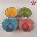 Cuatro colores pintura de la mano de cerámica tazón de helado