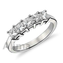 AGR0607 accessory engagement weddiing gift carat princess cut diamond gold and silver ring