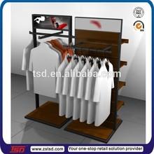 TSD-W3032 polo shirts apparel display racks/ slatwall sports shops apparel display racks/ wooden apparel display stand