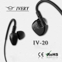 Ivery Ear hook waterproof earphone, sport earphone
